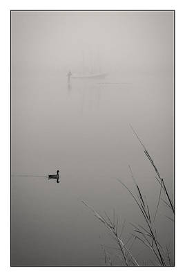 Photograph - Harbor Fog No.2 by Alan Sherlock