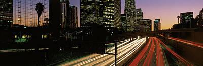 Harbor Freeway Los Angeles Ca Art Print by Panoramic Images