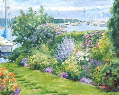 Harbor Garden Art Print by Sharon Jordan Bahosh