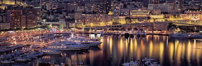 Monaco Photograph - Harbor, Monte Carlo, Monaco by Panoramic Images