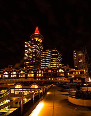 Photograph - Harbour Centre Christmas Tree by Haren Images- Kriss Haren