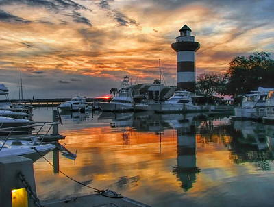 Photograph - Harbour Town Sunset by Dale Kauzlaric