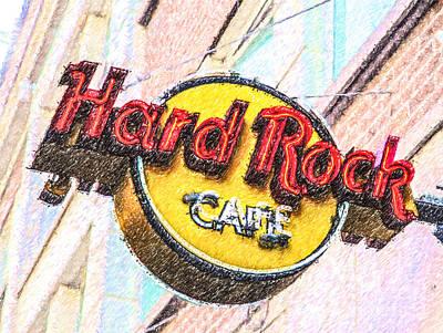 Digital Art - Hard Rock Cafe by Liz Leyden