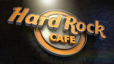 Lounging Digital Art - Hard Rock Cafe Logo by Allan Swart