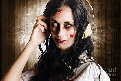Teenagers Photograph - Hard Rock Zombie Listening To Death Metal Music by Jorgo Photography - Wall Art Gallery