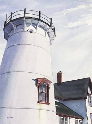 Chatham Painting - Harding's Beach Light by Heidi Gallo