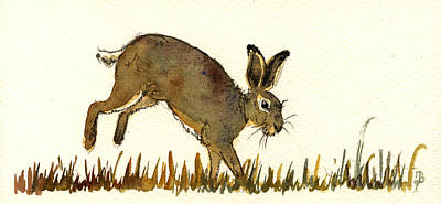 Hare Art Print by Juan  Bosco