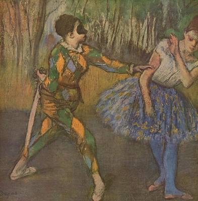 Degas Digital Art - Harlekin Und Colombine by Edgar Degas