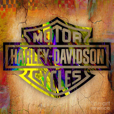 Harley Davidson Motorcycle Print by Marvin Blaine