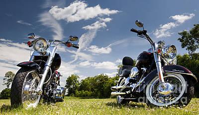 Harley Davidson Photograph - Harley Davidson Motorcycles by Tim Gainey