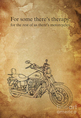Painting - Harley Davidson Quote by Pablo Franchi