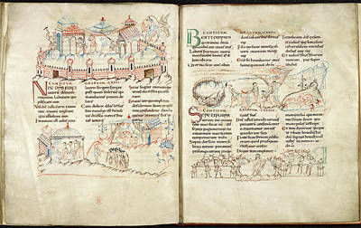 Bible Photograph - Harley Psalter With Pen Drawings by British Library