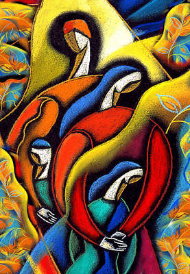 Couple Painting - Harmony by Leon Zernitsky