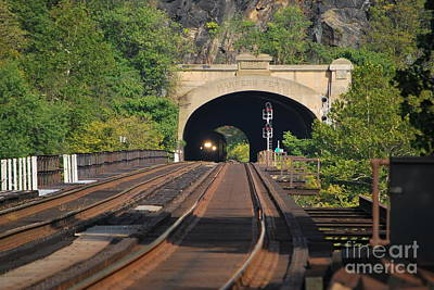 Photograph - Harpers Ferry Amtrak Series 3 Of 6 by Bob Sample