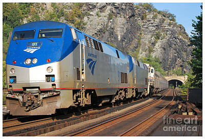 Photograph - Harpers Ferry Amtrak Series 6 Of 6 by Bob Sample
