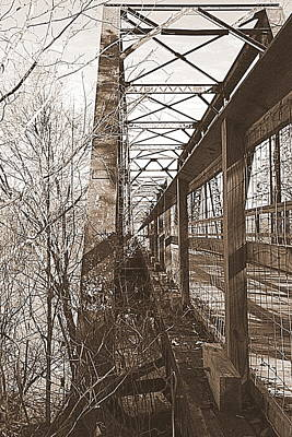 Photograph - Harry Easterling Bridge Peak Sc Sepia by Lisa Wooten