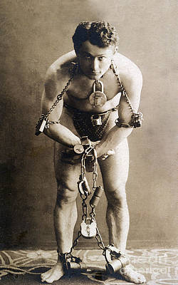 Houdini Photograph - Harry Houdini, Hungarian-american by Photo Researchers