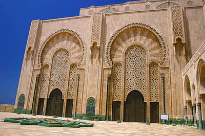 Sour Photograph - Hassan II Mosque Grand Mosque Sour Jdid Casablanca Morocco by Ralph A  Ledergerber-Photography