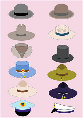Digital Art - Hats by John Orsbun