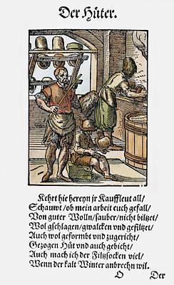 Felt Painting - Hatters, 1568 by Granger