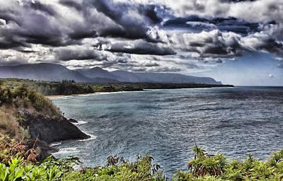 Hawaii Big Island Coastline V2 Art Print by Douglas Barnard