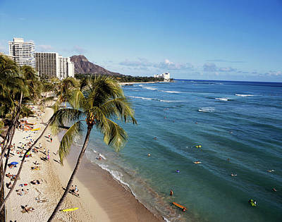 Waikiki Photograph - Hawaii Islands, Oahu, Waikiki, View by Douglas Peebles