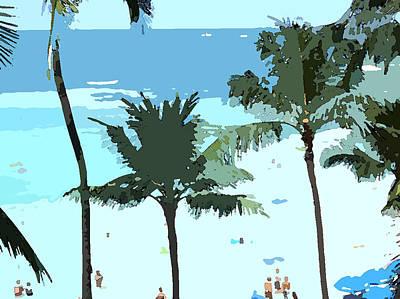 Art Print featuring the digital art Hawaiian Beach by Karen Nicholson