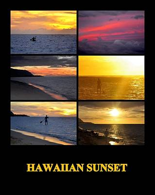 Photograph - Hawaiian Sunset by AJ  Schibig