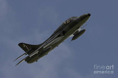 Hawker Hunter Art Print by J Biggadike