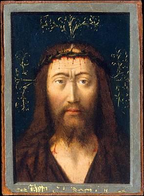 Head Of Christ Art Print by Petrus Christus