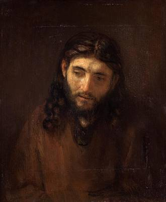 Head Of Christ Art Print by Rembrandt van Rijn