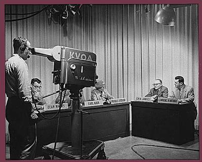 Animal Watercolors Juan Bosco - Head Of Production Lowell Cable Cameraman Panel Kvoa Tv Circa 1955 Color Added 2013 by David Lee Guss