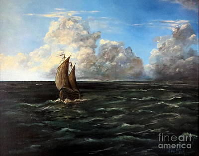 Heading For Shore Art Print by Lee Piper