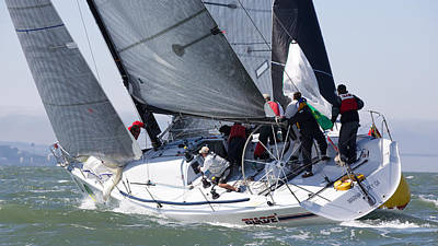 Sausalito Photograph - Heading Upwind by Steven Lapkin