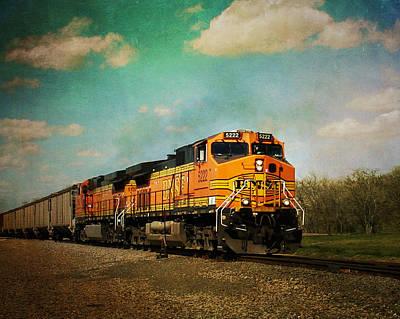 Hear The Train A Coming Art Print