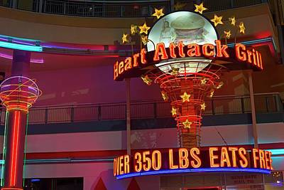 Heart Attack Grill Photograph - Heart Attack Grill by Jim West