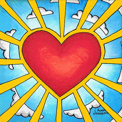 Painting - Heart Shine by Adam Johnson