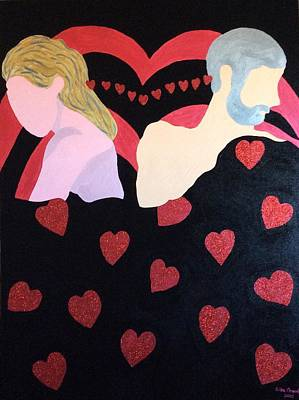 Painting - Hearts by Erika Chamberlin