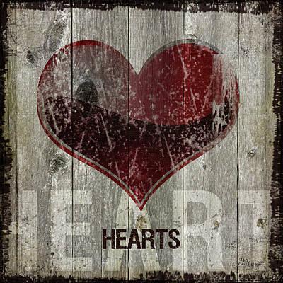 Man Cave Painting - Hearts by Jennifer Pugh