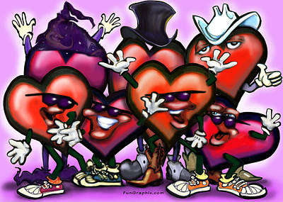 Fun Painting - Hearts Party by Kevin Middleton