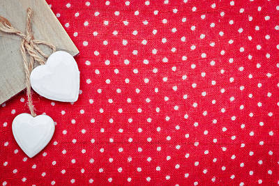 Hearts Art Print by Tom Gowanlock