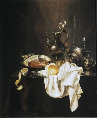 Heda, Willem Claesz 1594-1680. Still Art Print