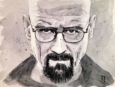 Crystal Meth Painting - Heisenberg by Max Good