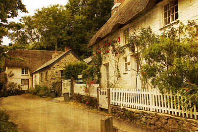 Helford Cottages Art Print by Brian Roscorla