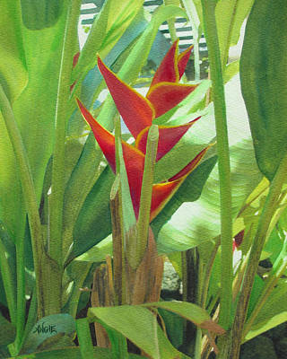 Painting - Heliconia by Angie Hamlin