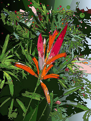 Wind Surfing Painting - Heliconia by Stacy Vosberg