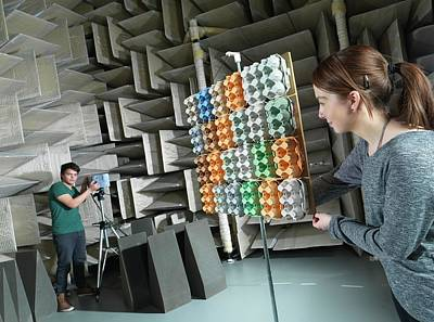 Hemi-anechoic Chamber Research Art Print by Andrew Brookes, National Physical Laboratory