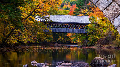 Photograph - Henniker Bridge by New England Photography