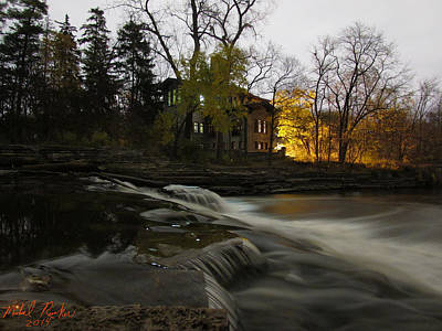 Henry Ford Mansion Waterfall Original by Michael Rucker