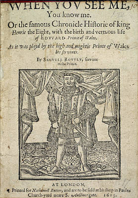 Portaits Photograph - Henry Viii by British Library